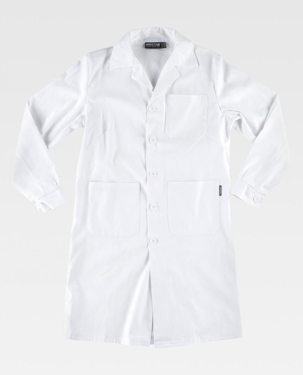 Batas médicas workteam b6111 de 100% algodón vista 2