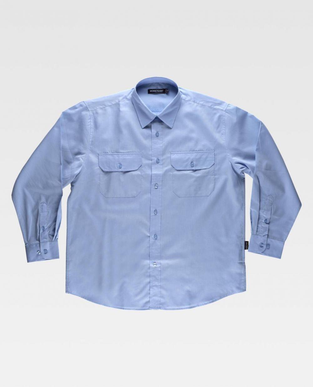 Camisas de trabajo workteam de cuello clasico de poliéster vista 1