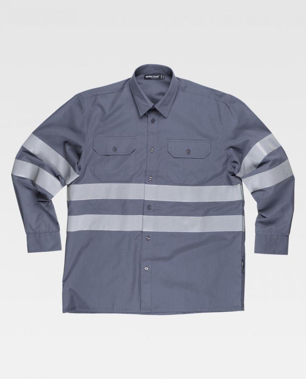 Camisas reflectante workteam ml cintas reflectantes de poliéster para personalizar vista 1