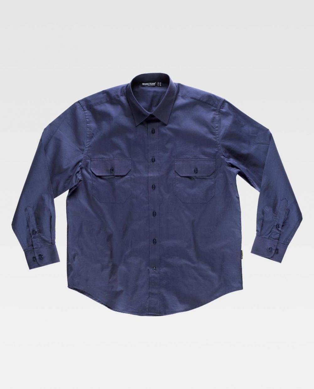 Camisas de trabajo workteam algodon cuello clasico de 100% algodón vista 1