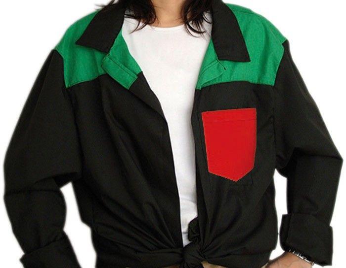 Blusones peñas personalizado 3 colores cuello camisa de algodon con publicidad vista 1