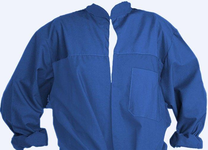 Blusones peñas cuello mao 1 color niño de algodon con logo vista 1