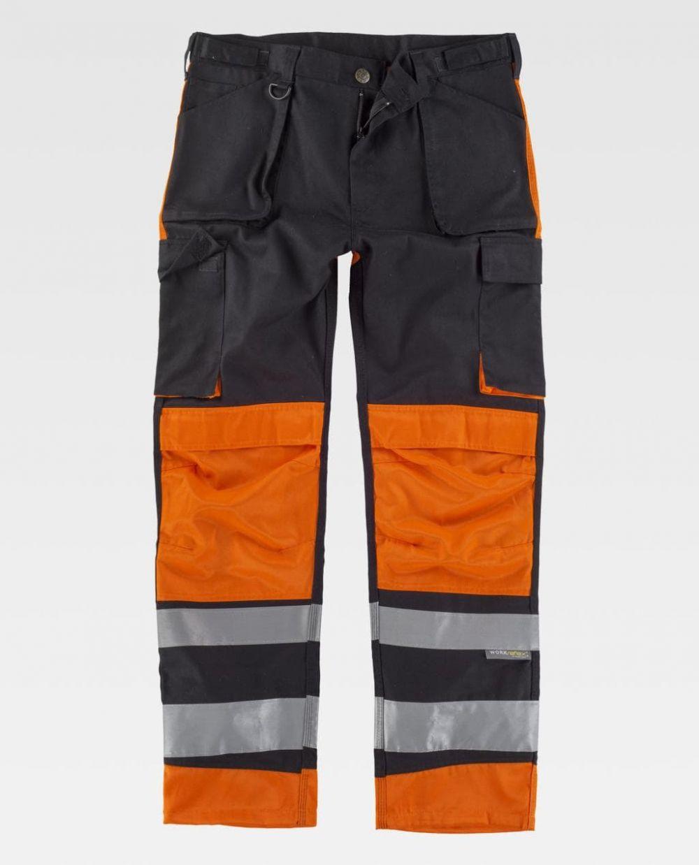 Pantalones reflectantes workteam reflectante combinado de poliéster para personalizar vista 1