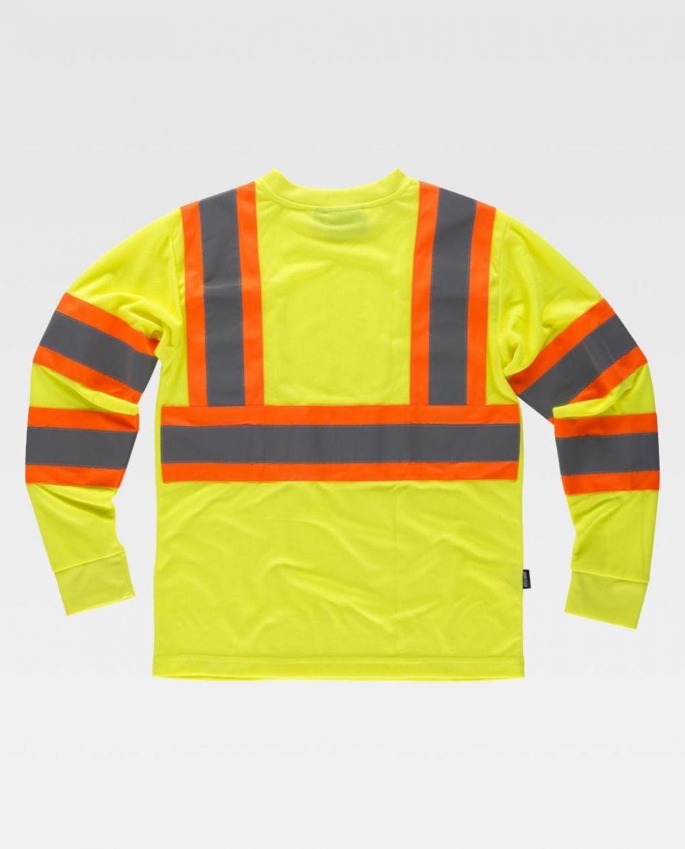 Camisetas reflectantes workteam reflectante fluorescente ml de poliéster vista 1
