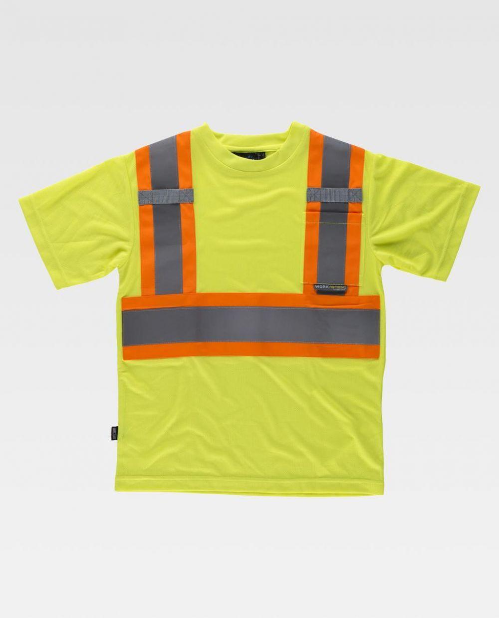 Camisetas reflectante workteam reflectante fluorescente mc de poliéster vista 1