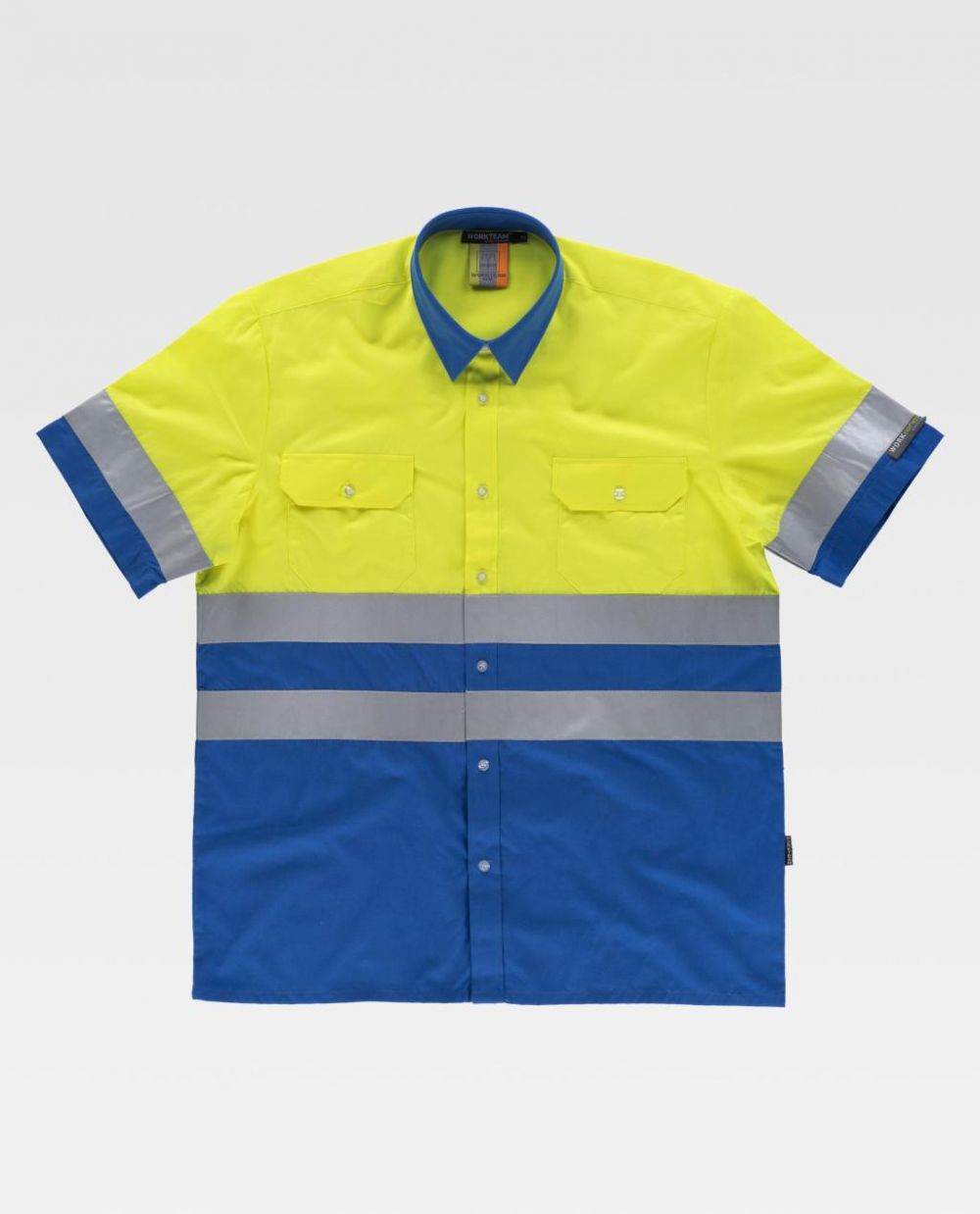 Camisas reflectante workteam mc de poliéster para personalizar vista 1