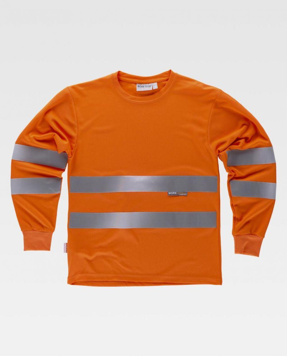 Camisetas reflectante workteam alta visibilidad ml c3933 de poliéster vista 1