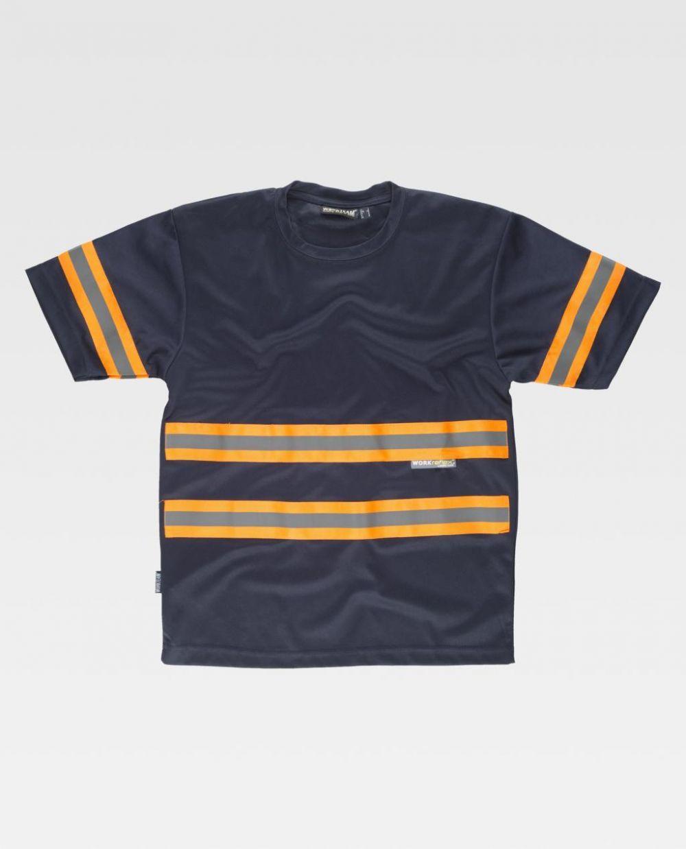 Camisetas reflectante workteam mc tejido pique de poliéster para personalizar vista 1
