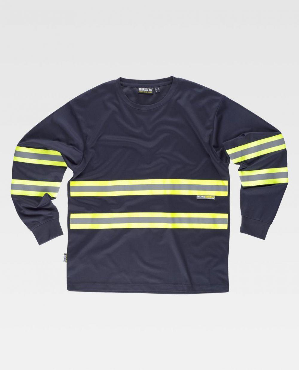 Camisetas reflectante workteam ml tejido pique de poliéster vista 1
