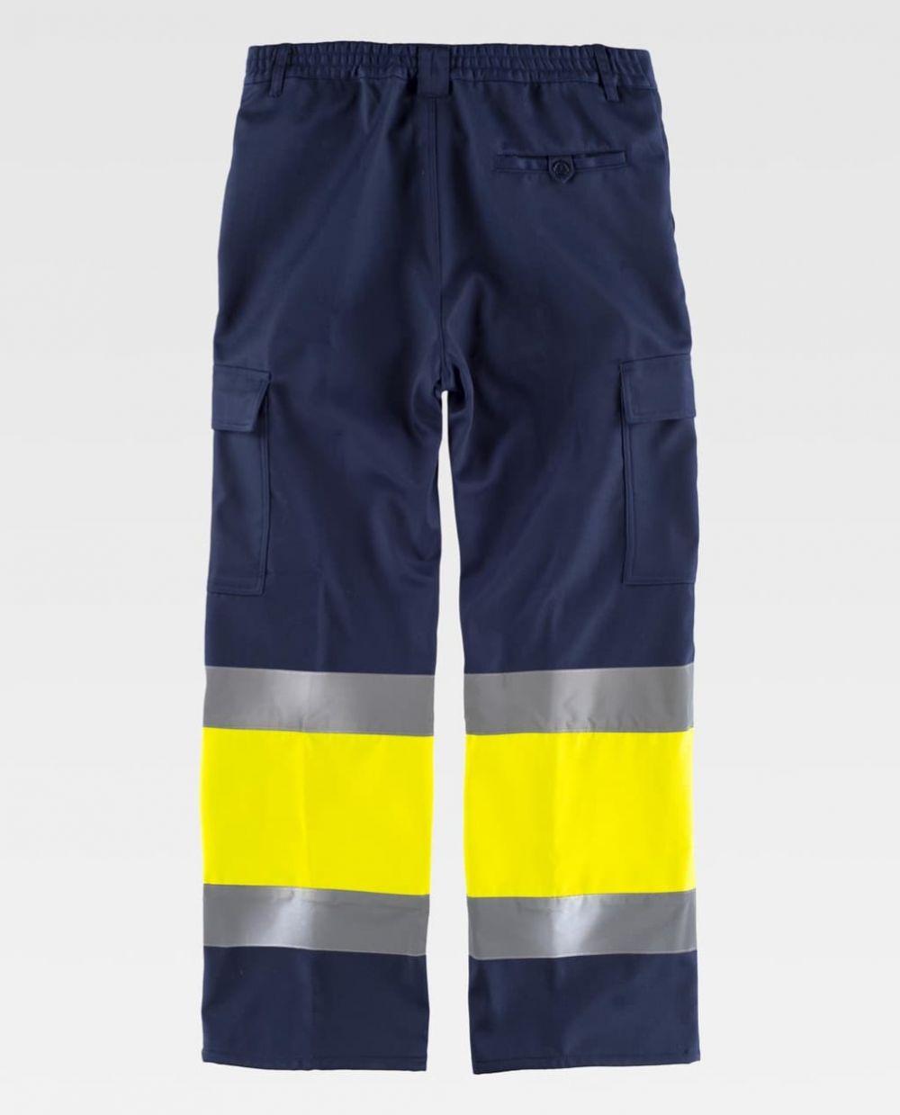 Pantalones reflectantes workteam para el frio combinada con alta visibilidad de poliéster vista 2