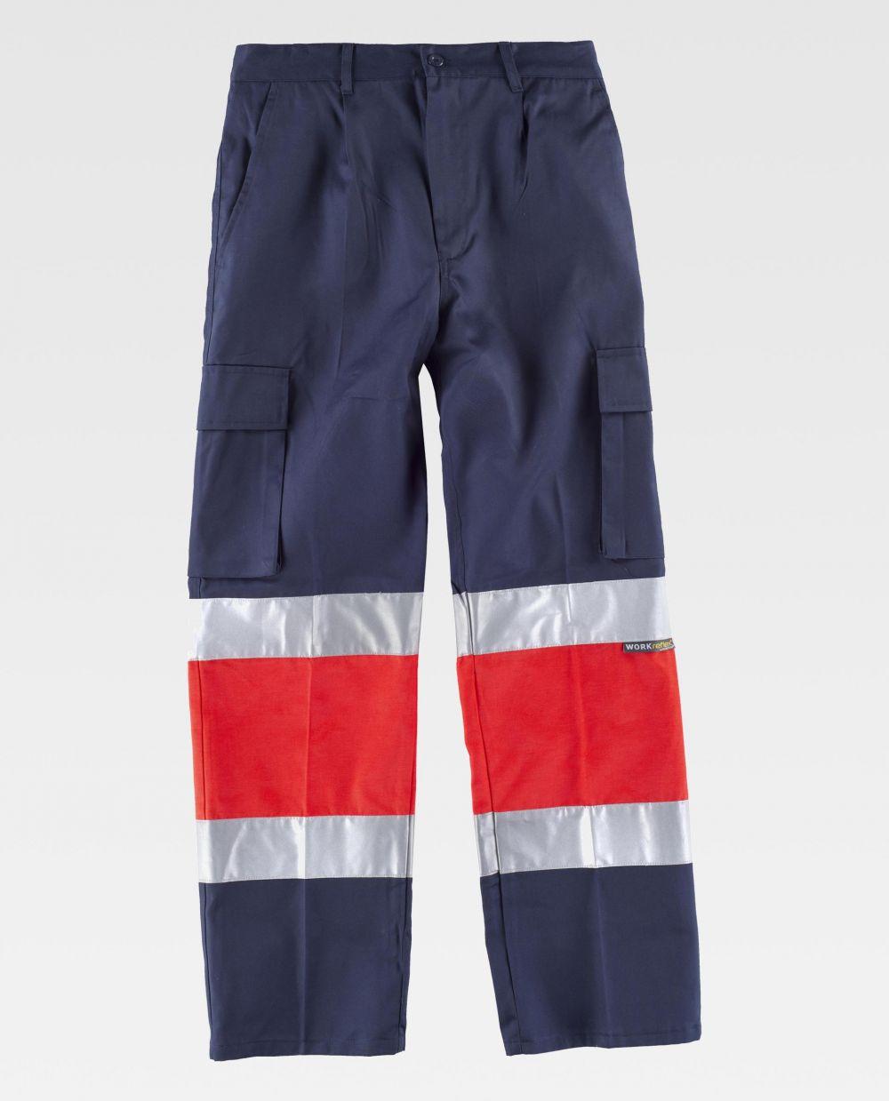 Pantalones reflectantes workteam c4057 de poliéster vista 2
