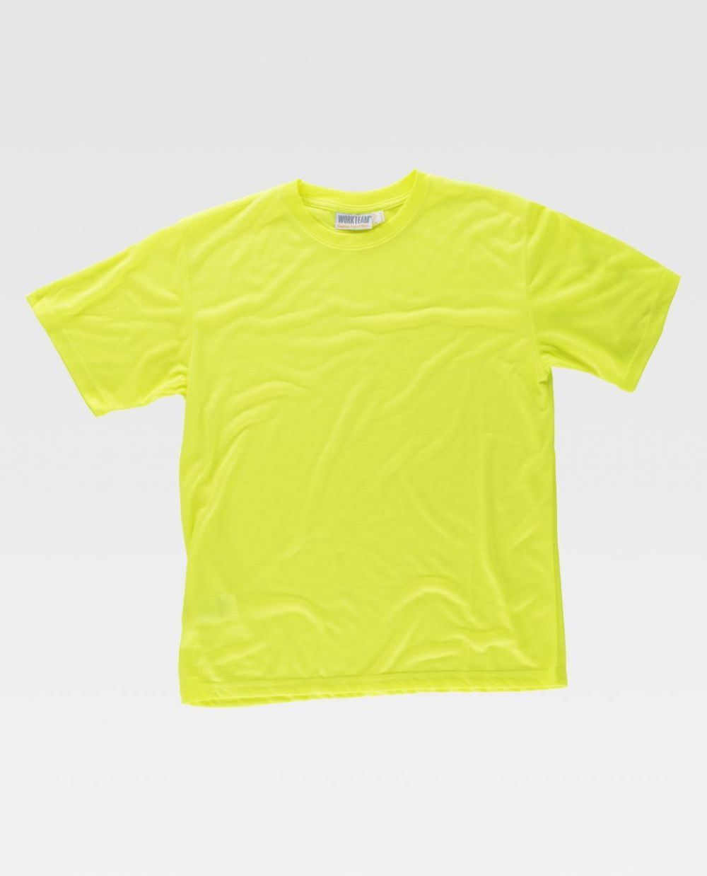 Camisetas reflectantes workteam alta visbilidad mc de poliéster para personalizar vista 1