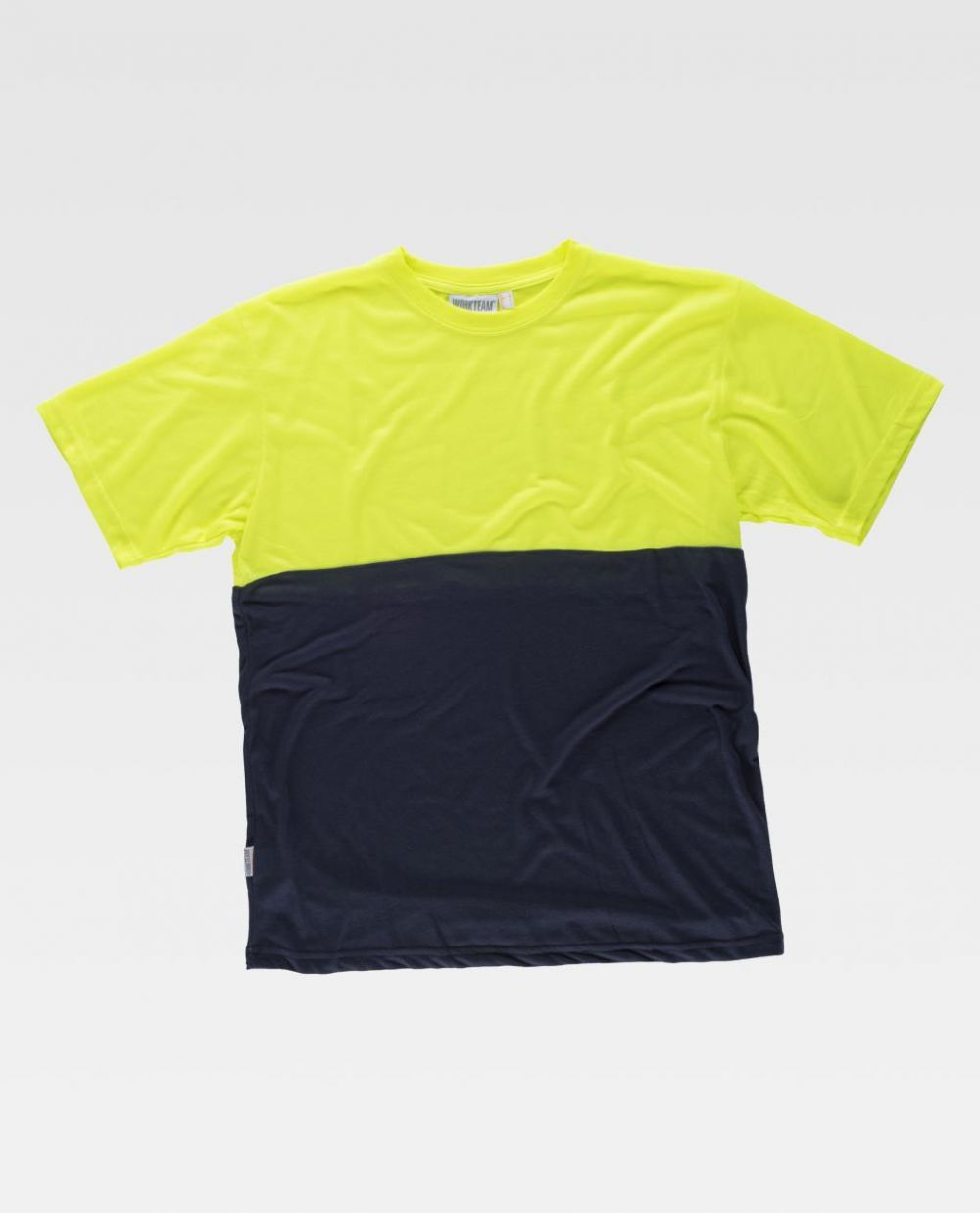 Camisetas reflectantes workteam mc combinada alta visibilidad de poliéster vista 1