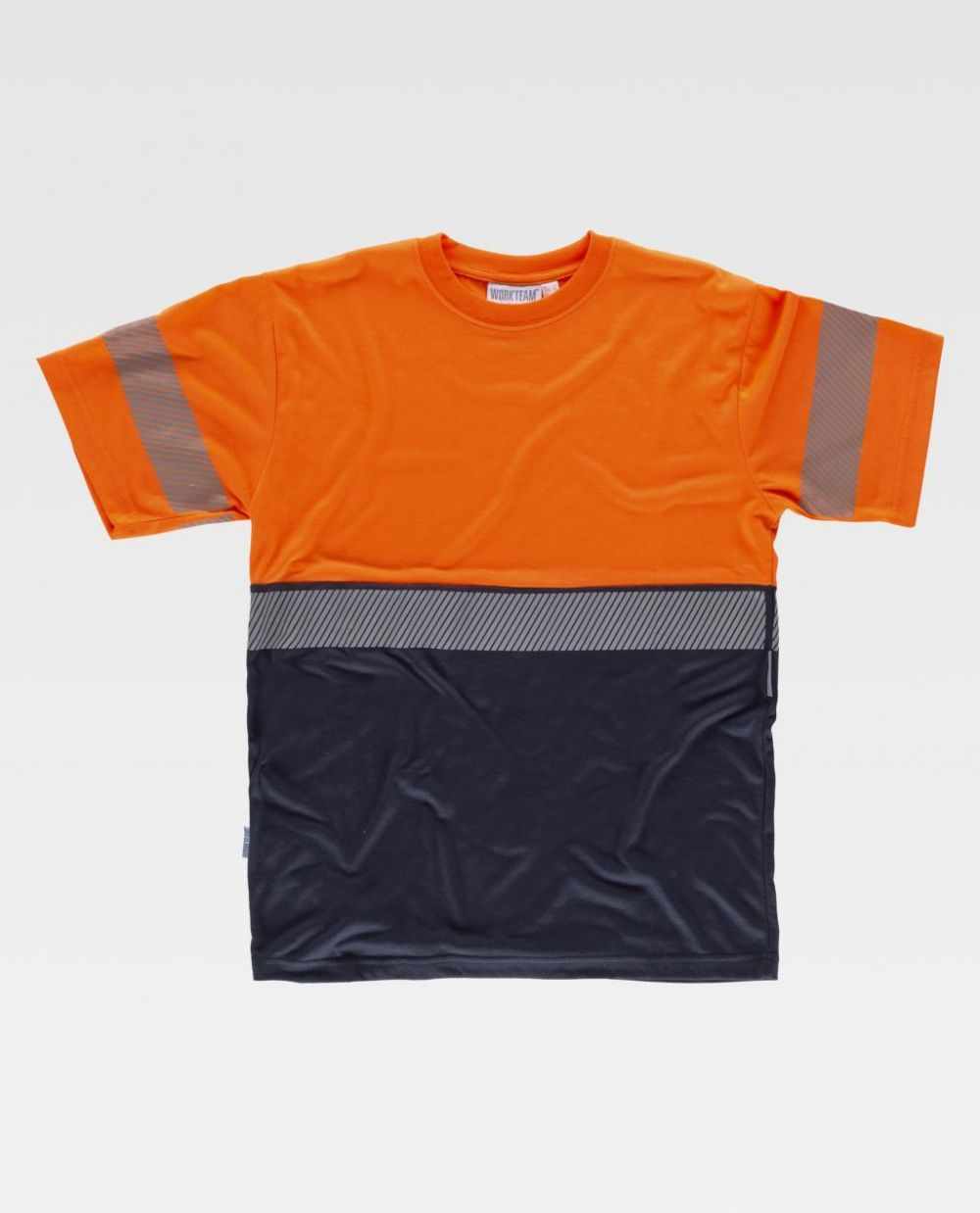 Camisetas reflectante workteam combinada mc de poliéster para personalizar vista 1