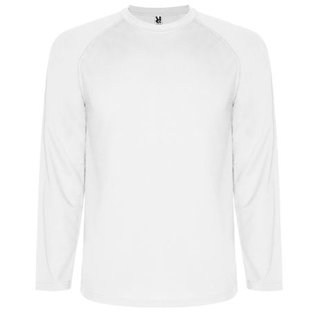 Camisetas técnicas roly montecarlo ls niño de poliéster con logo vista 1
