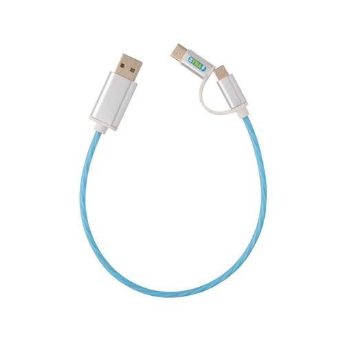 Cable con luz 3 en 1