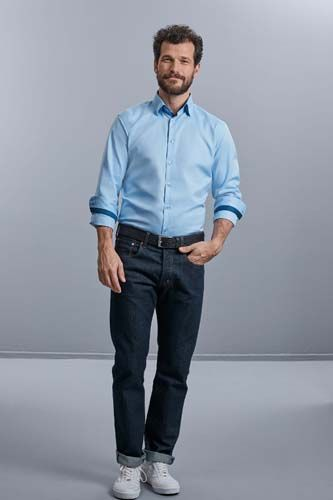 Camisa Espiga manga larga