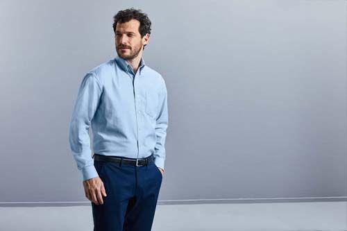 Camisa Oxford manga larga hombre