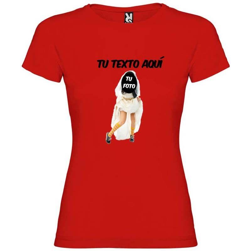 camiseta novia con zapatillas de despedida con foto troquelada vista 1