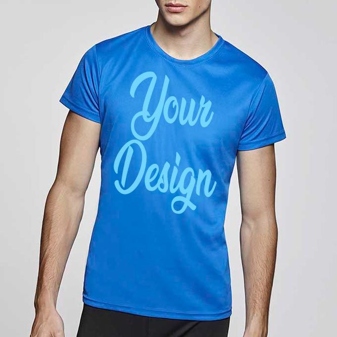 Camisetas técnicas roly camimera de poliéster con logo vista 1