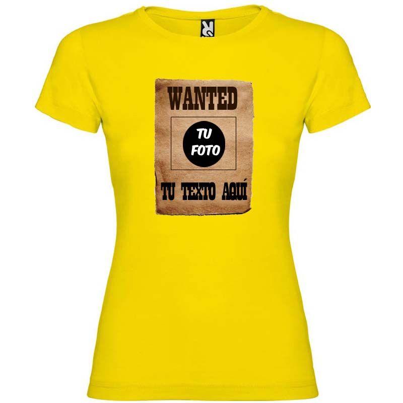 Camisetas despedida mujer para despedida de soltera cartel de se busca 100% algodón imagen 1