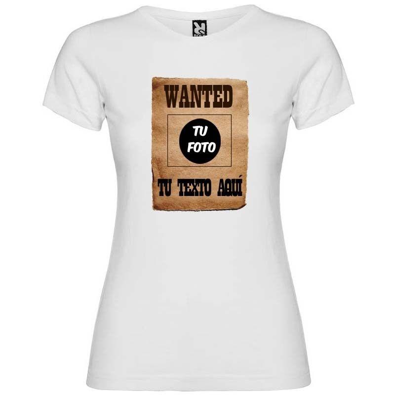 Camiseta blanca para despedida de soltera cartel de se busca vista 1
