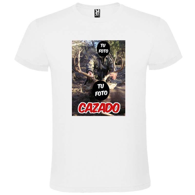 Camisetas despedida hombre para novios blanca con diseño de cazador 100% algodón con impresión imagen 1