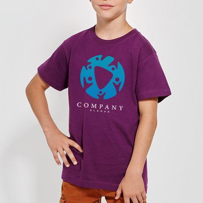 Camisetas manga corta roly dogo premium niño de 100% algodón con logo imagen 1