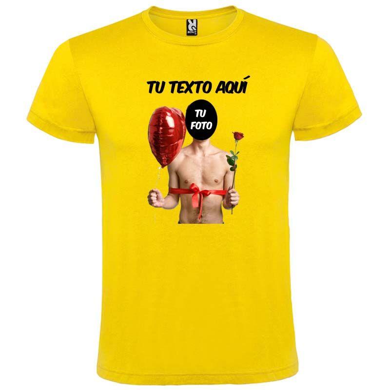 Camisetas despedida hombre de manga corta con diseño de globo y flor 100% algodón vista 1