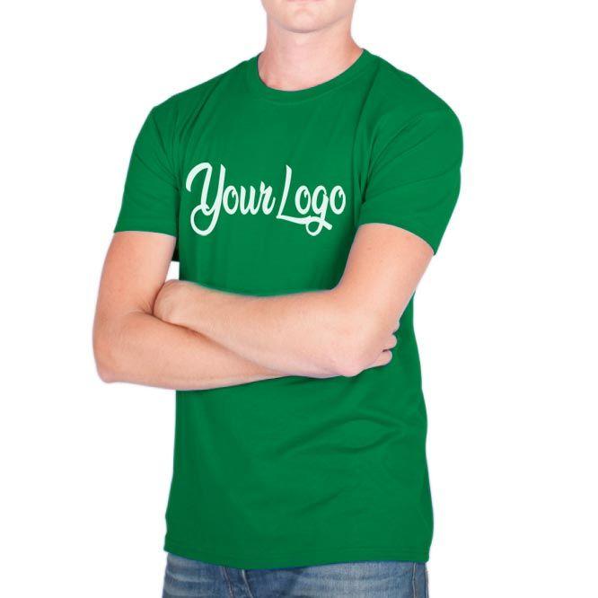 Camisetas manga corta keya mc180 de 100% algodón con logo vista 1
