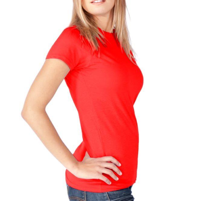 Camisetas manga corta keya wcs180 de 100% algodón para publicidad vista 1