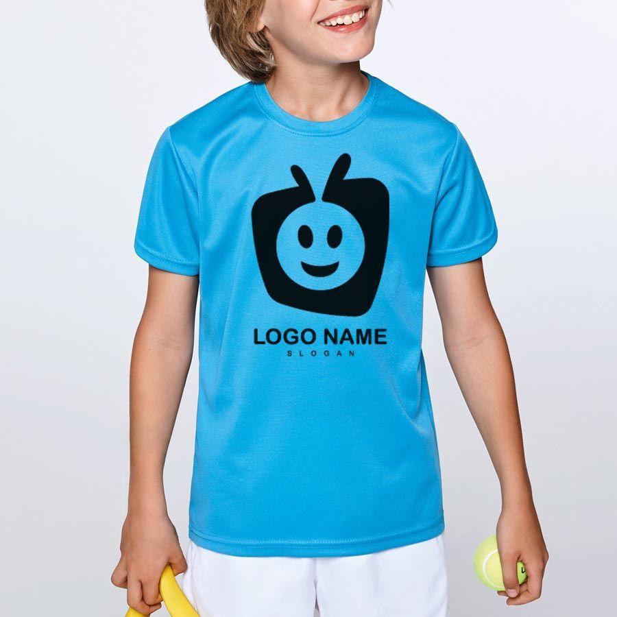 Camisetas técnicas roly camimera niño de poliéster vista 1