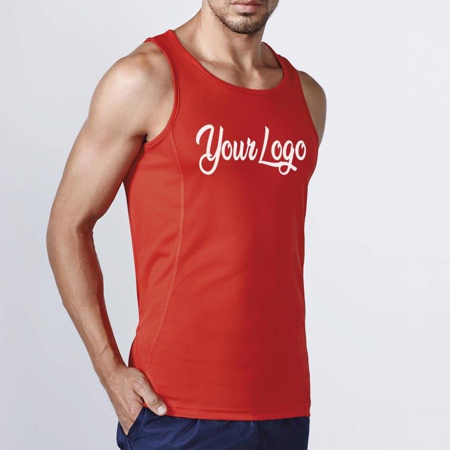 Camisetas técnicas roly andre de poliéster con publicidad vista 2