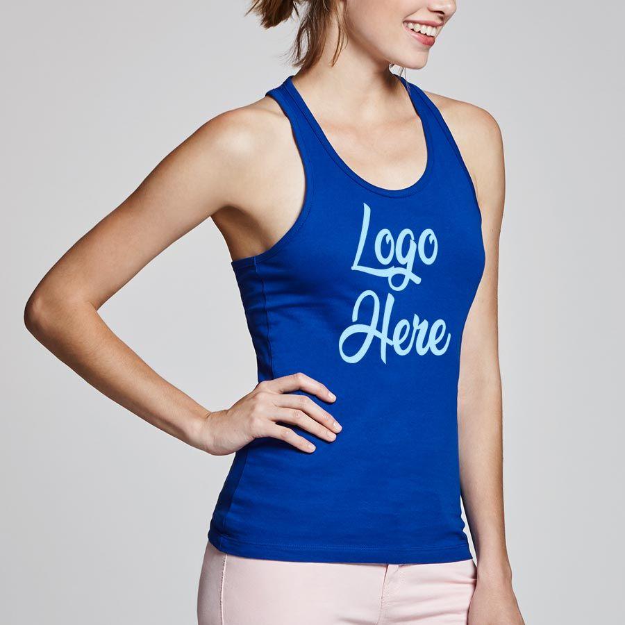 Camisetas tirantes roly brenda mujer de 100% algodón con publicidad vista 1