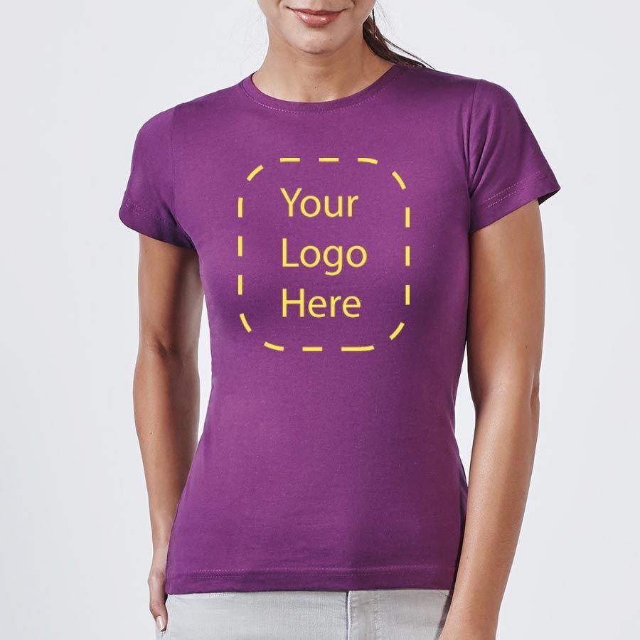 Camisetas manga corta roly jamaica mujer de 100% algodón con logotipo imagen 2