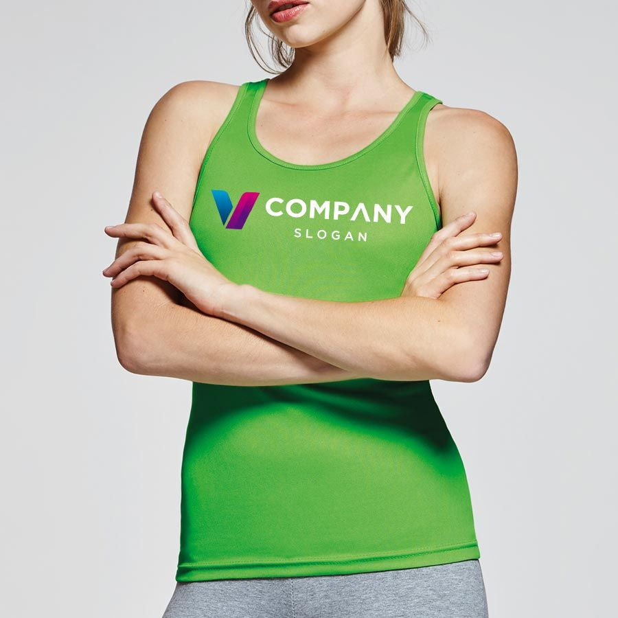 Camisetas técnicas roly shura mujer de poliéster con logo vista 2