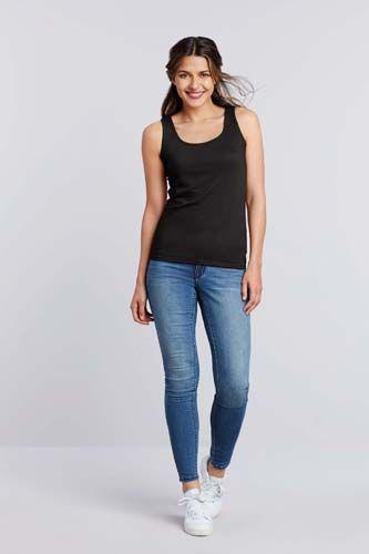 Camiseta Softstyle sin mangas mujer
