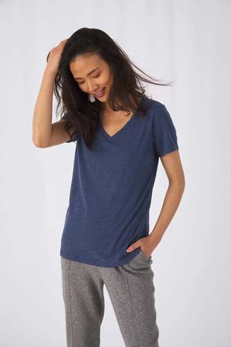 Camiseta Triblend cuello de pico mujer