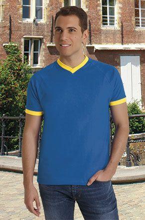 Camisetas manga corta valento premium twin de algodon vista 1