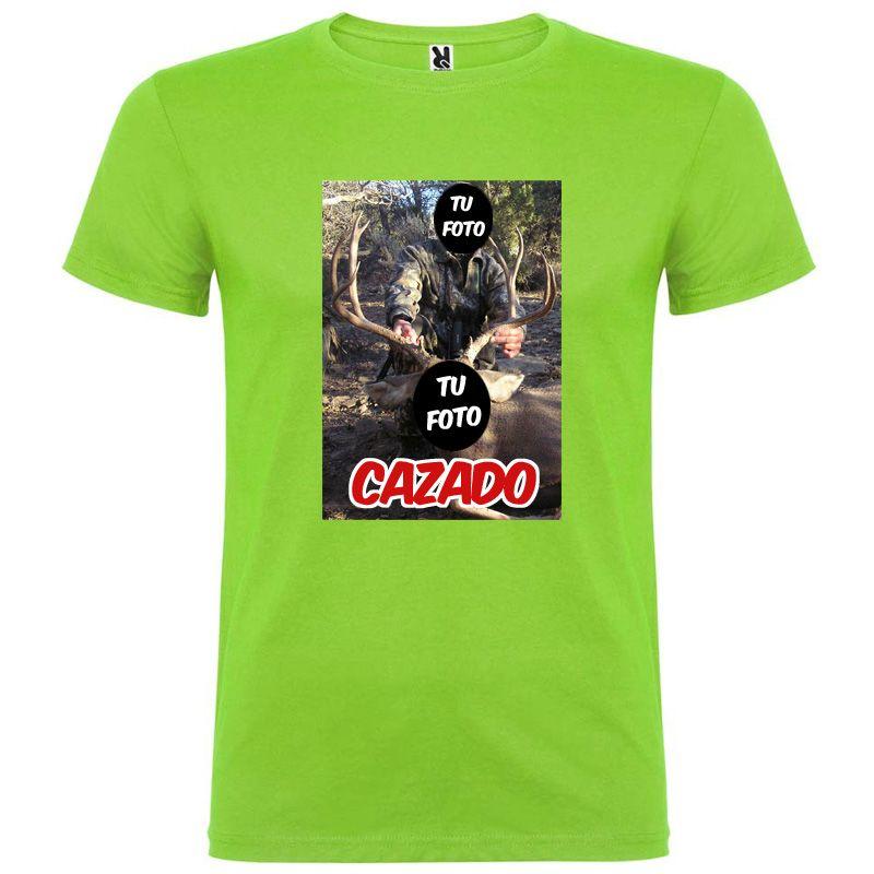 Camisetas despedida hombre para novios con diseño de cazador 100% algodón vista 1