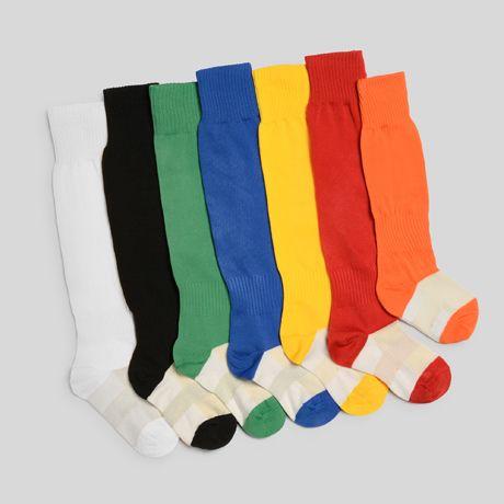 Equipaciones deportivas roly calcetas soccer de piel con publicidad vista 1