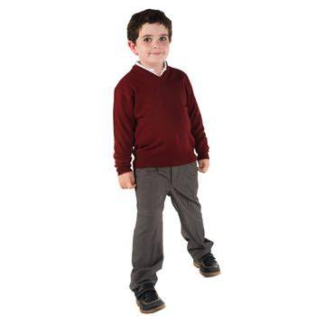 Pantalones roly largo colegial de poliéster con logo vista 1