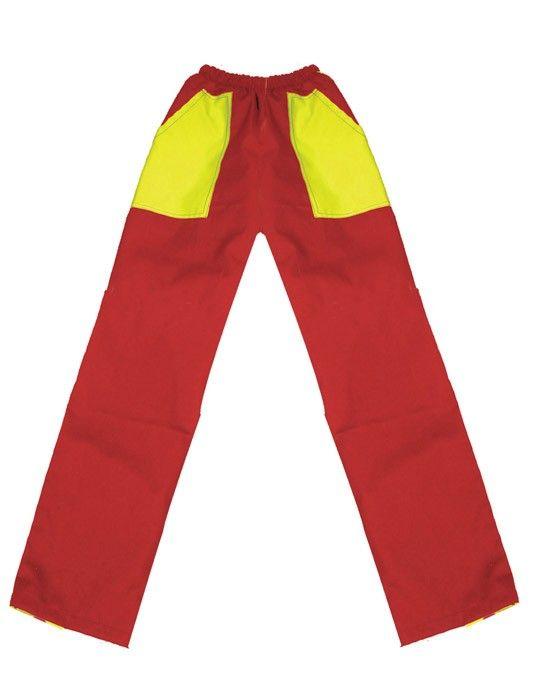 Pantalones peñas peñas bicolor mod 02 niño de algodon con logo vista 1
