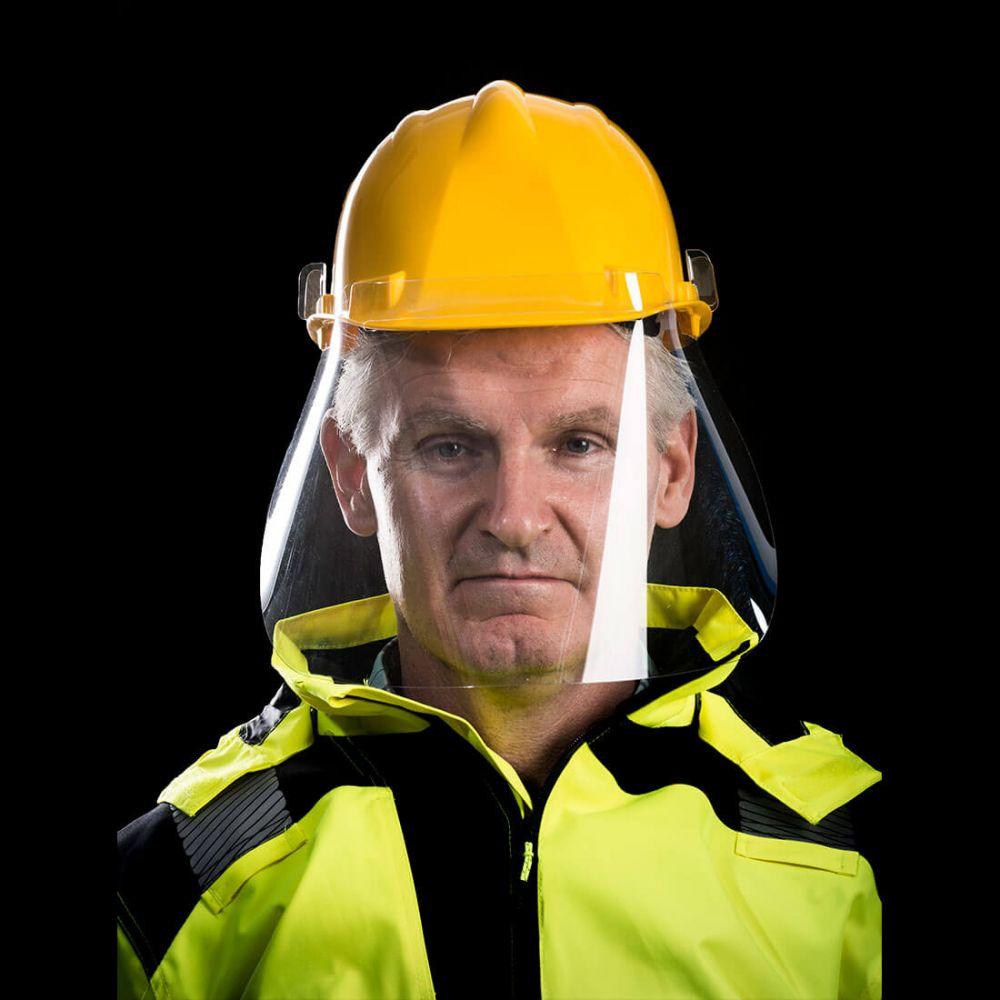 Pantalla facial apet de 500 micras para casco (caja de 250 unidade con impresión vista 1