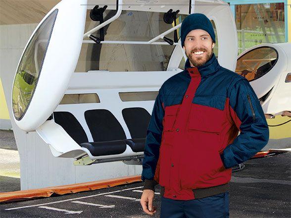 Chaquetas y cazadoras de trabajo valento chaqueta desmontable valento scoot de poliéster con impresión vista 1