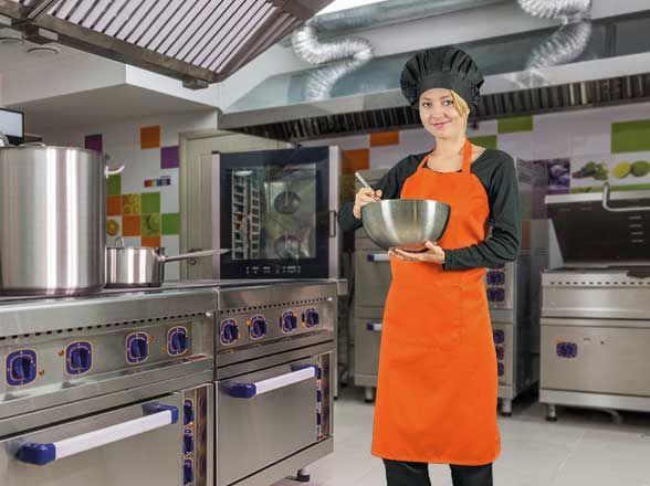 Delantales de hostelería valento oven de poliéster con logo imagen 1