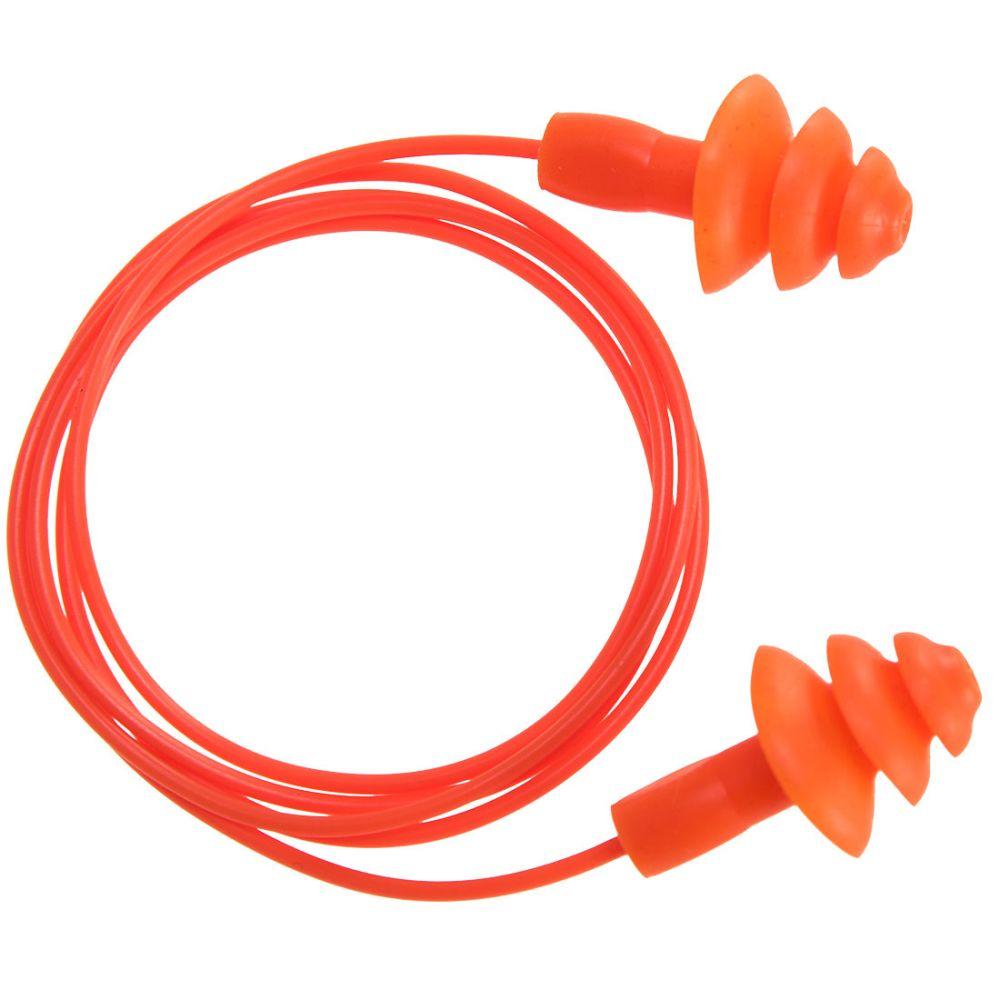 Protectores auditivos reutilizables de tpr con impresión vista 1