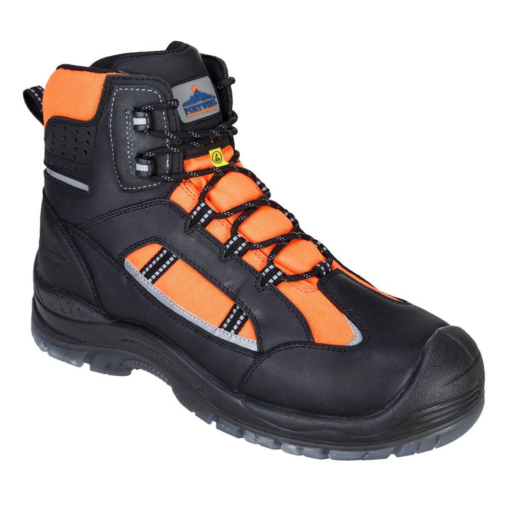 Zapatos de trabajo bota de alta visibilidad portwest compositelite retroglo s3 wr esd para personalizar vista 1