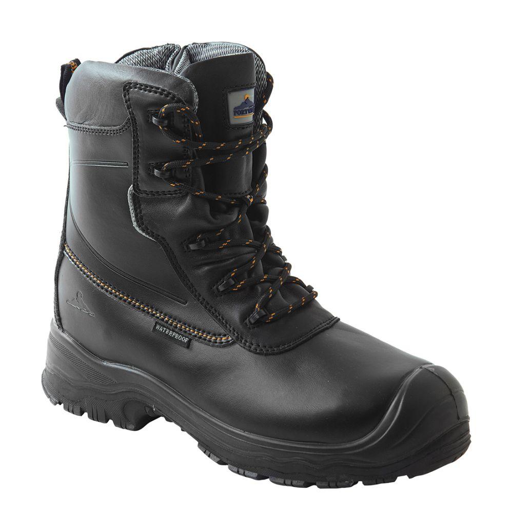 Zapatos de trabajo bota de seguridad portwest compositelite traction 7 inch (18cm) s3 hro ci wr con logo vista 1