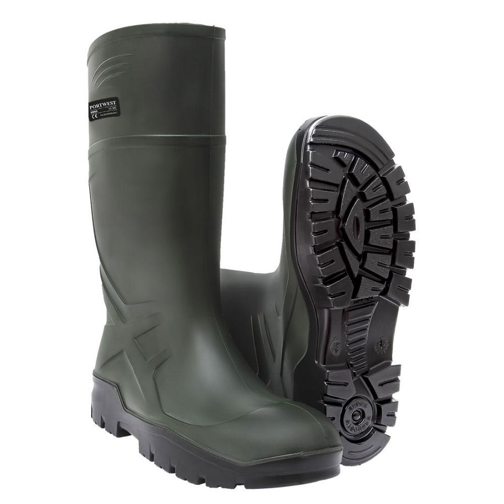 Zapatos de trabajo bota wellington pu con logo vista 1